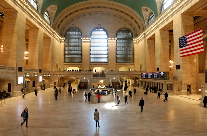 Even for a typically slow Sunday afternoon, Grand Central Terminal in New York City was quieter than usual on March 15.