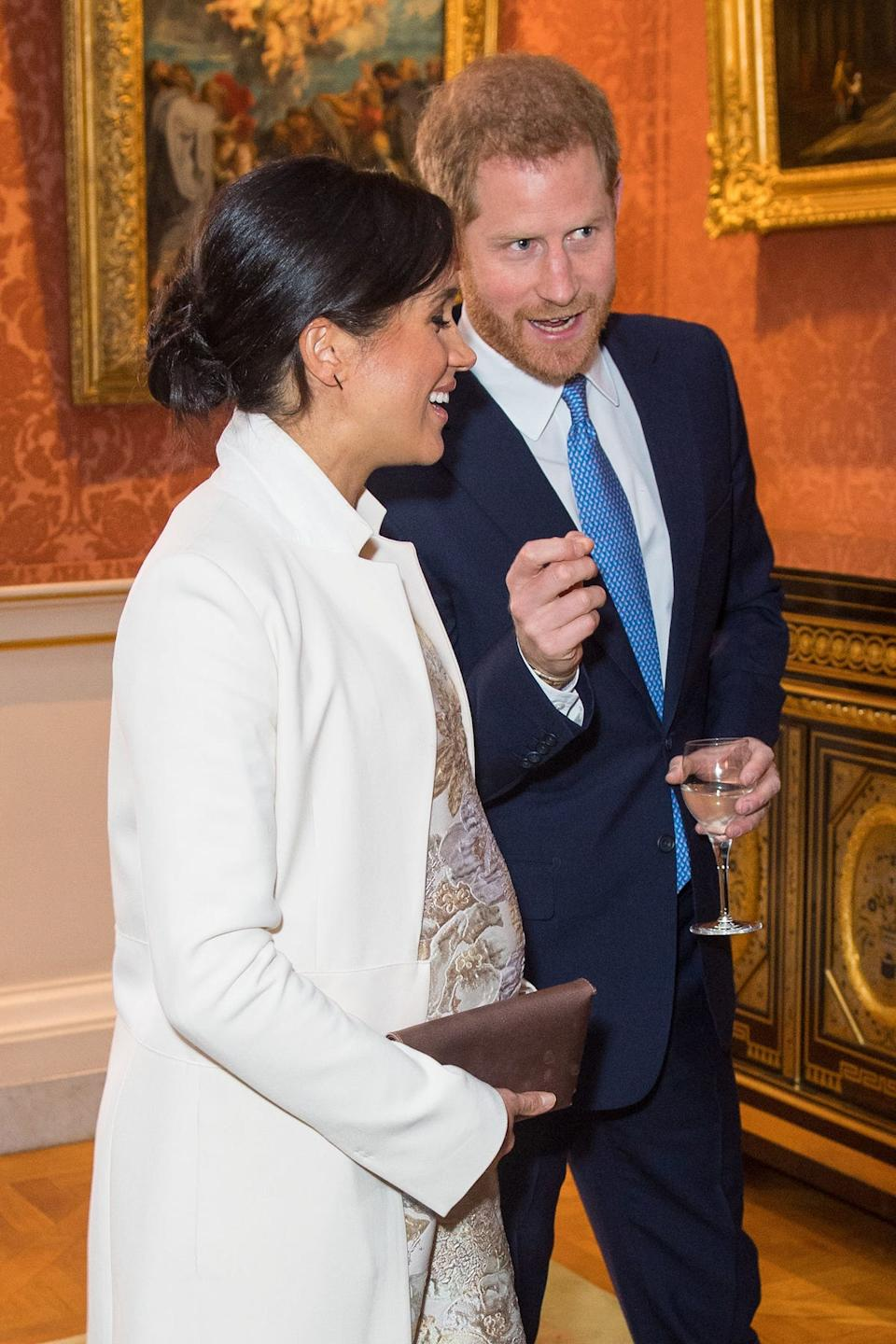 Harry and Meghan laugh