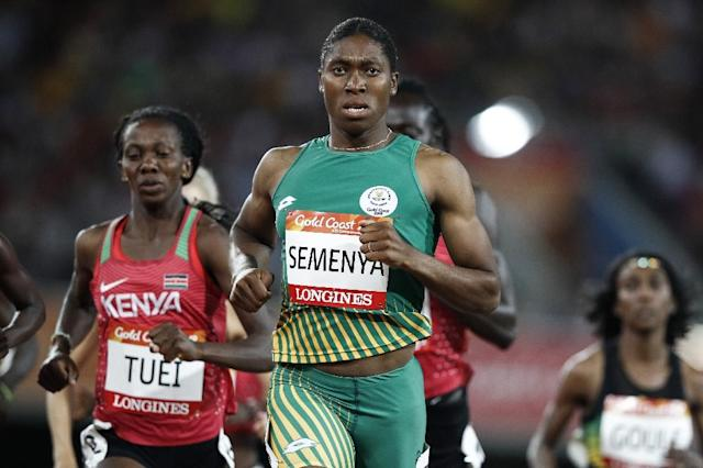 Caster Semenya has struck a defiant tone over the new rules that could see her forced to take medication to reduce naturally-occurring levels of testosterone (AFP Photo/Adrian DENNIS)