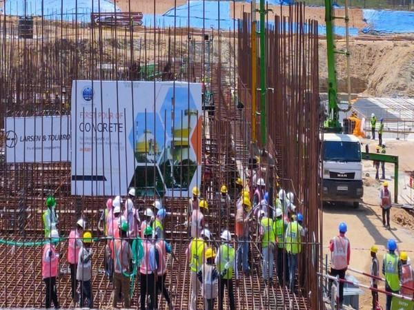 An official ceremony of construction work for unit 5 of the KNPP was held on Tuesday.