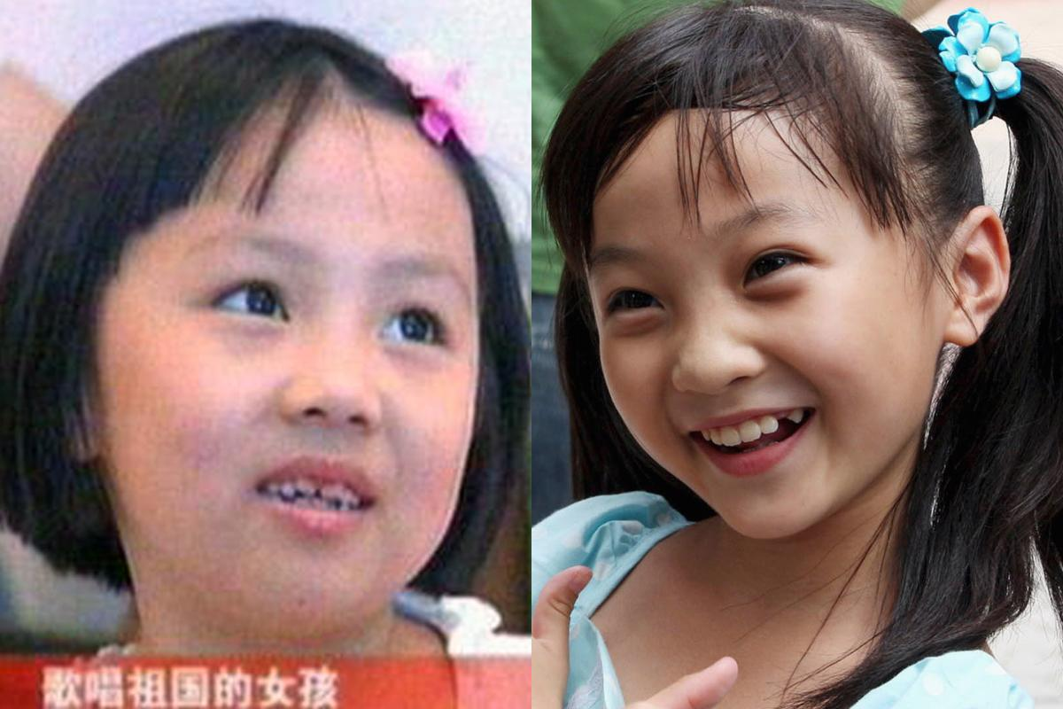 <p>Nine-year-old Lin Miaoke (right) garnered world attention for singing 'Ode to the Motherland' at the Beijing Olympics Opening Ceremony. She got more attention when it was discovered she lip-synched the song. 7-year-old Yang Peiyi (left) who was the true chanteuse was deemed 'not suitable' because of her looks. (AP Photo/Zhou Liang) </p>