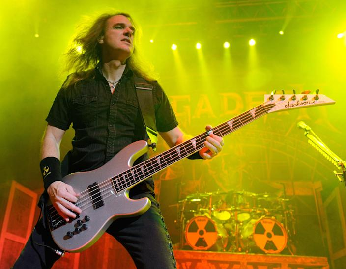 Megadeth bassist David Ellefson performs during the Jagermeister Fall Music Tour at The Pearl concert theater at the Palms Casino Resort October 20, 2010 in Las Vegas, Nevada (Getty Images)