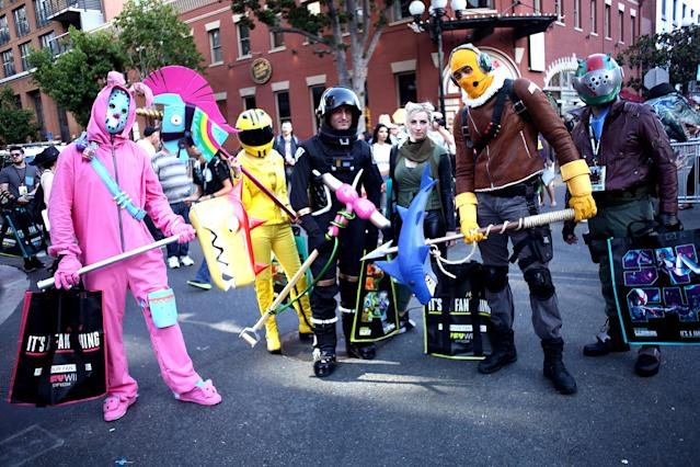 <p>Cosplayers at Comic-Con International on July 19, 2018, in San Diego. (Photo: Tommaso Boddi/Getty Images) </p>