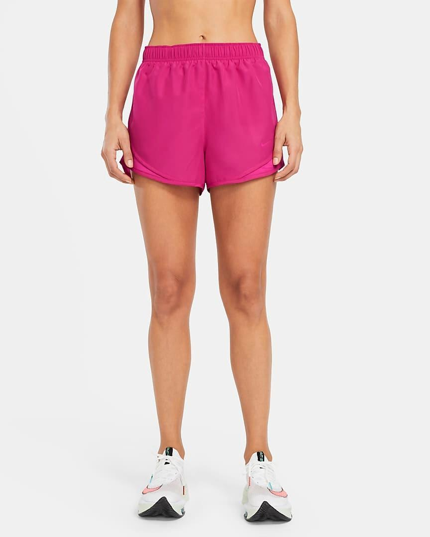 """<p>""""Nothing can beat the classic Nike Tempo shorts—I have these in so many colors! The mesh panels on the side keep me dry and ventilated, but the best part is the mesh 'underwear' inside. I enjoy the breeze very much! Plus, they're made with 75% recycled polyester fibers."""" — <a href=""""https://www.instagram.com/utahlee/"""" rel=""""nofollow noopener"""" target=""""_blank"""" data-ylk=""""slk:Utah Lee"""" class=""""link rapid-noclick-resp"""">Utah Lee</a>, Nike master trainer </p> <p>""""These Nike shorts were the first quality pair of running shorts I purchased in college when I first got into running, and I've since bought many more. They're comfortable and breathable, plus they come in about every color imaginable so they match any workout top. I also love that the waistband back pocket can hold cash or keys."""" —Shelby Pritchett, 2x half-marathon runner</p> $30, Nike. <a href=""""https://www.nike.com/t/tempo-womens-running-shorts-96l2HW/CU8890-615"""" rel=""""nofollow noopener"""" target=""""_blank"""" data-ylk=""""slk:Get it now!"""" class=""""link rapid-noclick-resp"""">Get it now!</a>"""
