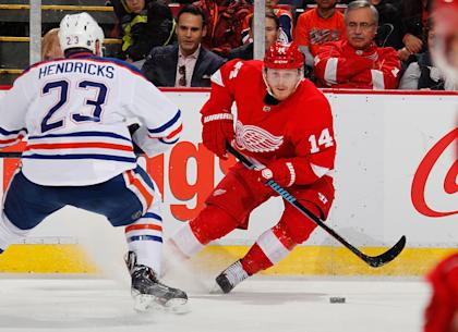 Gustav Nyquist has sparked the Wings with his scoring ways over the past two seasons. (Getty)