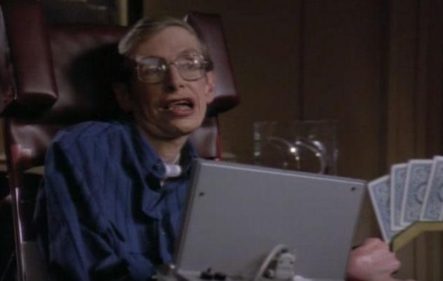 Professor Stephen Hawking, who tragically passed away at age 76 on Wednesday, was the only person to ever play their own self in Star Trek's 50-year history. Source: CBS