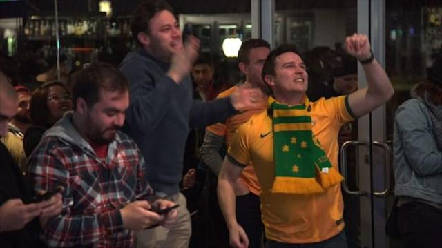 "They may have just lost to France after historic VAR decisions, but Australians in Melbourne still believe they've got ""a good chance of making it through"" the group stages."