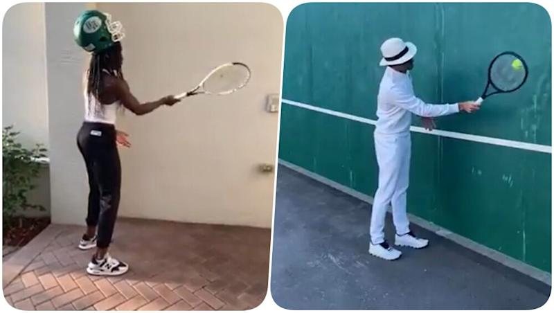 Coco Guaff Accepts Roger Federer's Training From Home Challenge, Teenage Tennis Sensation Takes Way too Many Tries to Get the Drill Right (Watch Video)