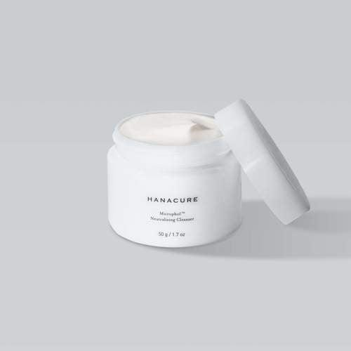 <p>From the makers of the famous All-In-One Facial comes the new <span>Hanacure Microphol Neutralizing Cleanser</span> ($28). It has a gentle foaming formula that balances the skin's natural pH levels. </p>