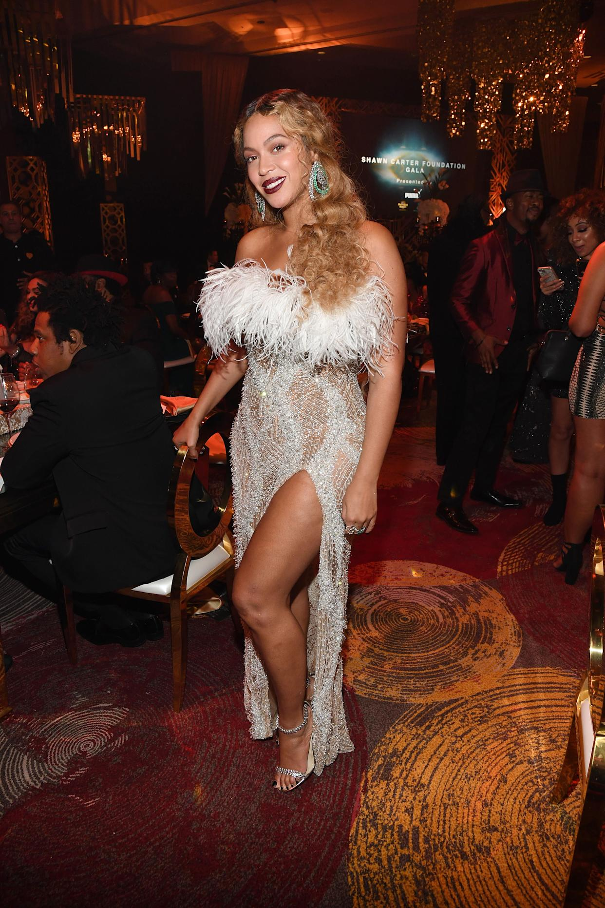 Beyoncé at the Shawn Carter Foundation Gala in Hollywood, Florida, on Nov. 16.