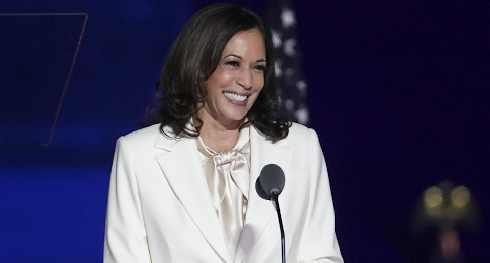 Kamala Harris paid tribute to the black women before her in her acceptance speech. Source: Getty Images