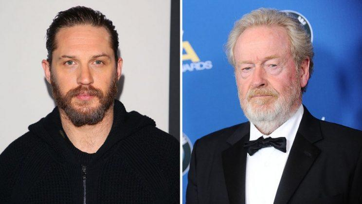 Tom Hardy and Ridley Scott to team up on 'War Party' for Netflix