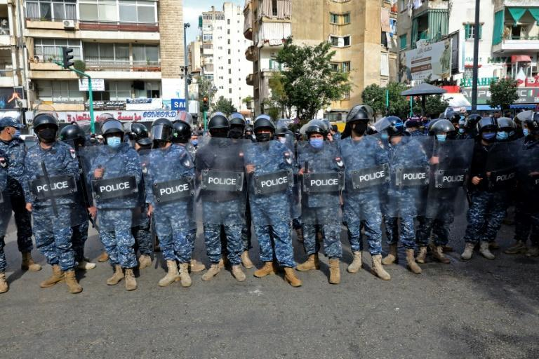 Lebanese security forces deploy ahead of renewed expected demonstrations in Beirut on Tuesday