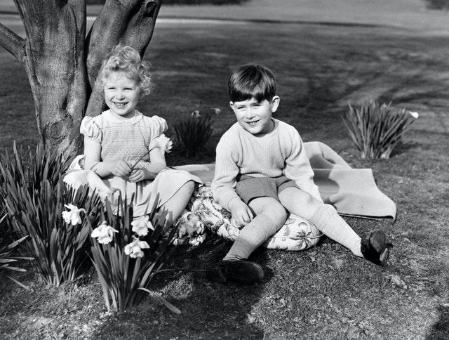 A young Charles with his sister the Princess Royal. PA Wire/PA Images
