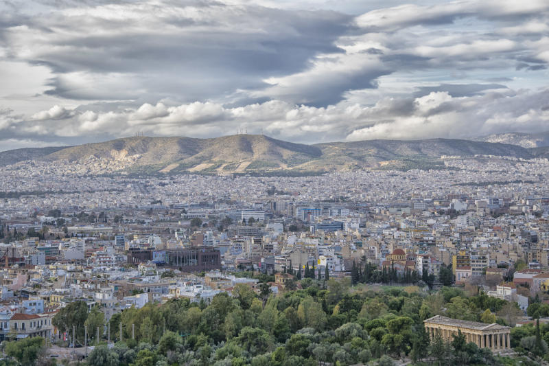 Atene, panoramica dall'Acropoli (Getty Images)