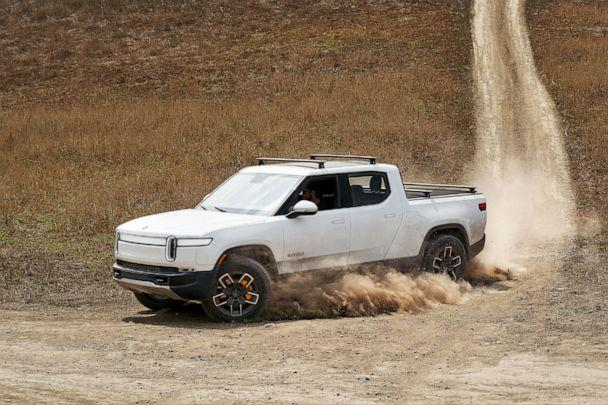 PHOTO: The Rivian R1T all-electric truck, photographed last year near Mendoza, Argentina, will be competing for the first time in the Rebelle Rally. Rivian says the 4X4 gets a 300+ mile range. (Rivian)