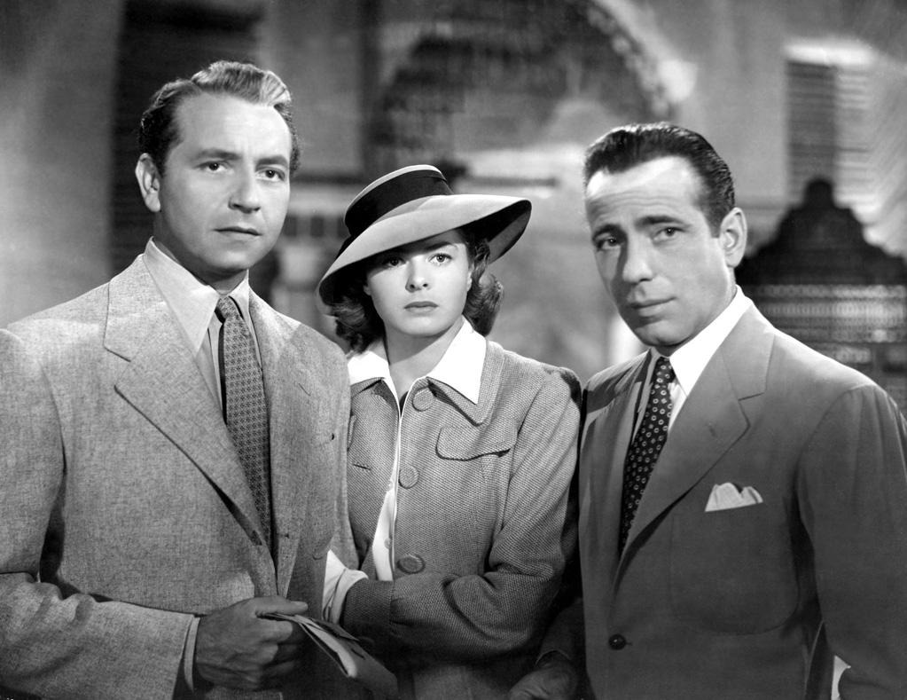 """""""Casablanca"""": If Ilsa (Ingrid Bergman) really loves Rick (Humphrey Bogart), why does she leave Casablanca with her stuffy husband, Victor (Paul Henreid)? Ah, Nazis. But they'll always have Paris."""