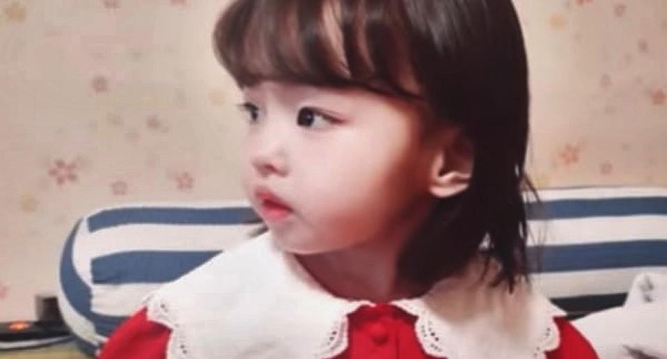 Pictured is a three-year-old girl whose remains were found in an apartment in South Korea. It is believed she had starved to death.