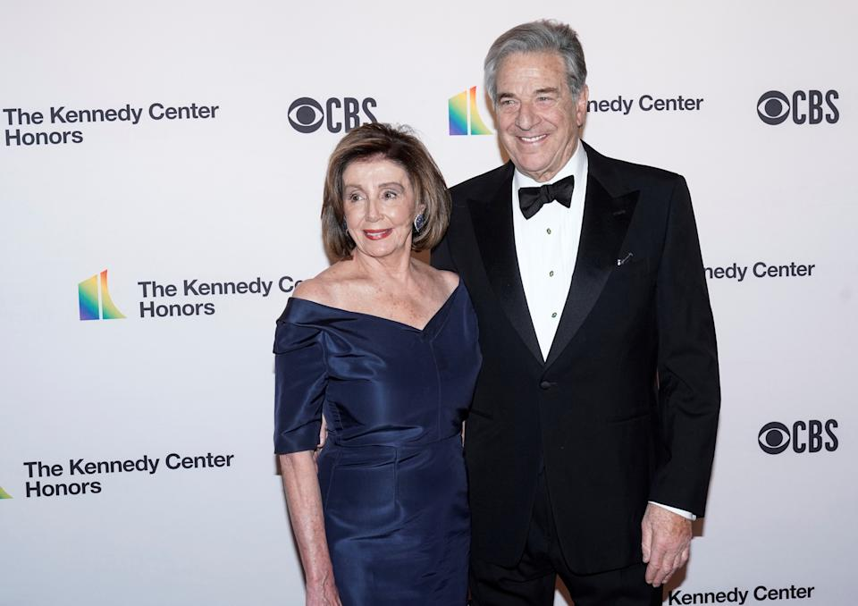 Speaker of the House Nancy Pelosi (D-CA) and her husband Paul Pelosi arrive for the 42nd annual Kennedy Awards in Washington, United States on December 8, 2019. REUTERS / Joshua Roberts