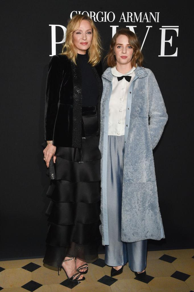 "The ""Kill Bill"" actress and her daughter with ex-husband Ethan Hawke, Maya Hawke, could pass as sisters. <em>(Image via Getty Images)</em>"
