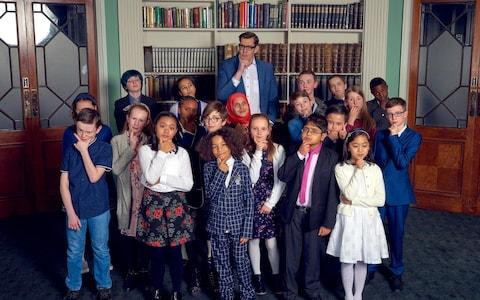 The contestants in C4's Child Genius group - Credit: Channel 4