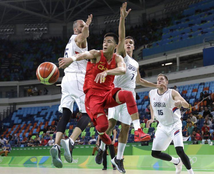 Guo Ailun makes a nifty pass during the 2016 Summer Olympics in Rio de Janeiro. (AP)