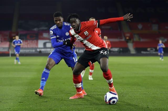 Southampton's Mohammed Salisu (right) in action