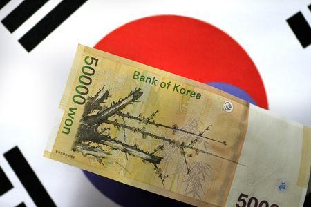 A South Korea won note is seen in this illustration photo May 31, 2017. REUTERS/Thomas White/Illustration/File Photo