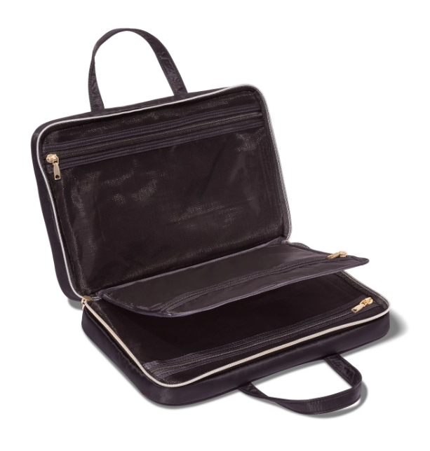 "<h3>Sonia Kashuk Weekender Makeup Bag</h3><br><strong>The Little Black Dress Organizer</strong><br><br>Chic, right? Sonia Kashuk's travel tote organizer features a variety of pockets and compartments to stash everything from tiny tubes of moisturizer to jewelry and more.<br><br><strong>The Hype: </strong>4.6 out of 5 stars and 21 reviews on <a href=""https://www.target.com/p/sonia-kashuk-8482-weekender-makeup-bag-black/-/A-52702304"" rel=""nofollow noopener"" target=""_blank"" data-ylk=""slk:Target"" class=""link rapid-noclick-resp"">Target</a><br><br><strong>Organization Obsessives Say: </strong>""Love the size of this! You can fit a ton of stuff in it but the bag isn't ginormous. It's a manageable size while still holding everything. Love the 3 compartments. Exactly what I was looking for"" — Cocospaghetti, Target Reviewer<br><br><strong>Sonia Kashuk</strong> Weekender Makeup Bag - Black, $, available at <a href=""https://go.skimresources.com/?id=30283X879131&url=https%3A%2F%2Fwww.target.com%2Fp%2Fsonia-kashuk-8482-weekender-makeup-bag-black%2F-%2FA-52702304"" rel=""nofollow noopener"" target=""_blank"" data-ylk=""slk:Target.com"" class=""link rapid-noclick-resp"">Target.com</a>"