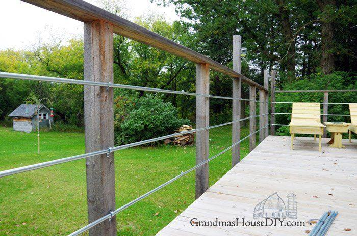 "<p>This clever fence uses inexpensive steel conduit, which gives a country-modern feel. It's attached to a deck here but would work just as well as an interesting boundary fence too.</p><p><strong>Get the tutorial at <a href=""http://www.grandmashousediy.com/conduit-deck-rails/"" rel=""nofollow noopener"" target=""_blank"" data-ylk=""slk:Grandma's House DIY"" class=""link rapid-noclick-resp"">Grandma's House DIY</a>.</strong></p><p><a class=""link rapid-noclick-resp"" href=""https://go.redirectingat.com?id=74968X1596630&url=https%3A%2F%2Fwww.homedepot.com%2Fp%2FDEWALT-ATOMIC-20-Volt-MAX-Lithium-Ion-Brushless-Cordless-Compact-1-2-in-Drill-Driver-w-2-Batteries-1-3Ah-Charger-Bag-DCD708C2%2F308067442&sref=https%3A%2F%2Fwww.thepioneerwoman.com%2Fhome-lifestyle%2Fgardening%2Fg32651791%2Fdecorative-garden-fence-ideas%2F"" rel=""nofollow noopener"" target=""_blank"" data-ylk=""slk:SHOP CORDLESS DRILLS"">SHOP CORDLESS DRILLS</a></p>"