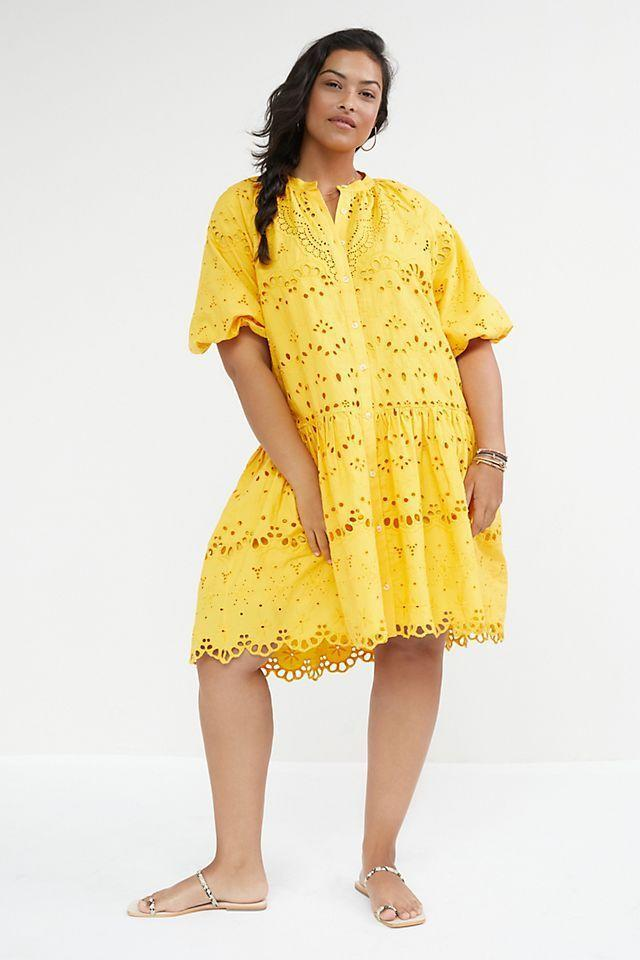 """<p><strong>Anthropologie</strong></p><p>anthropologie.com</p><p><strong>$188.00</strong></p><p><a href=""""https://go.redirectingat.com?id=74968X1596630&url=https%3A%2F%2Fwww.anthropologie.com%2Fshop%2Ftallulah-eyelet-mini-dress&sref=https%3A%2F%2Fwww.thepioneerwoman.com%2Ffashion-style%2Fg36269895%2Fcute-summer-dresses%2F"""" rel=""""nofollow noopener"""" target=""""_blank"""" data-ylk=""""slk:Shop Now"""" class=""""link rapid-noclick-resp"""">Shop Now</a></p><p>Doesn't this sunny yellow lace number just make you smile? The fun balloon sleeves and all-over eyelet finish give this dress an easy, breezy feel. </p>"""