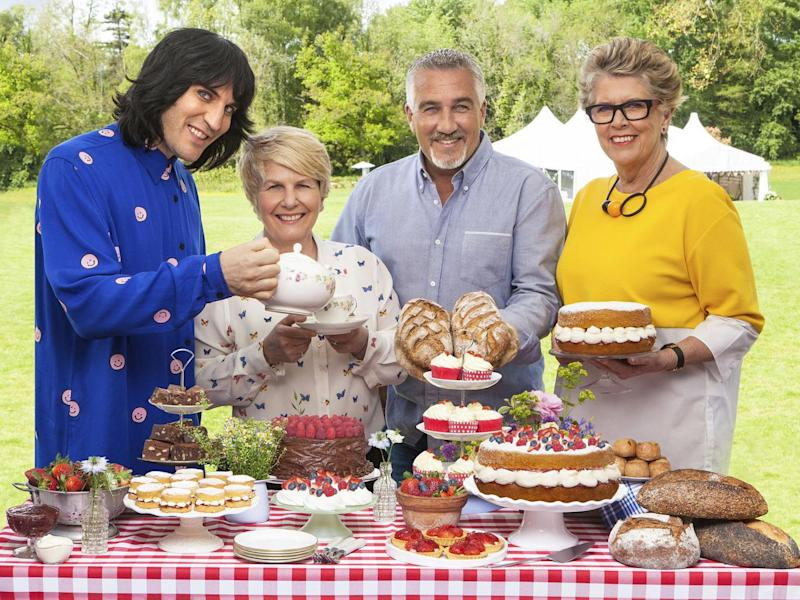 The judges and presenters of The Great British Bake Off 2017 (left to right) Noel Fielding, Sandi Toksvig, Paul Hollywood and Prue Leith (Channel 4/PA Wire)