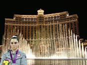 McKayla Maroney is not impressed with the Bellagio fountains.