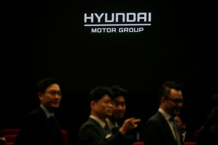 FILE PHOTO: Employees of Hyundai Motor Group attend the company's new year ceremony in Seoul, South Korea, January 2, 2019.   REUTERS/Kim Hong-Ji