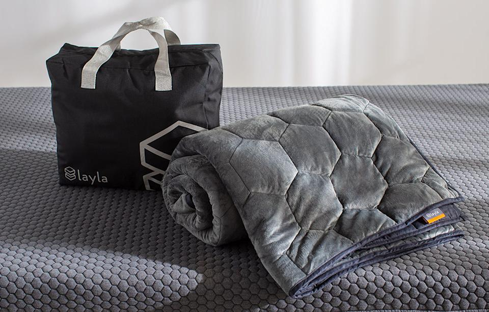 Layla Weighted Blanket. Image via Layla.