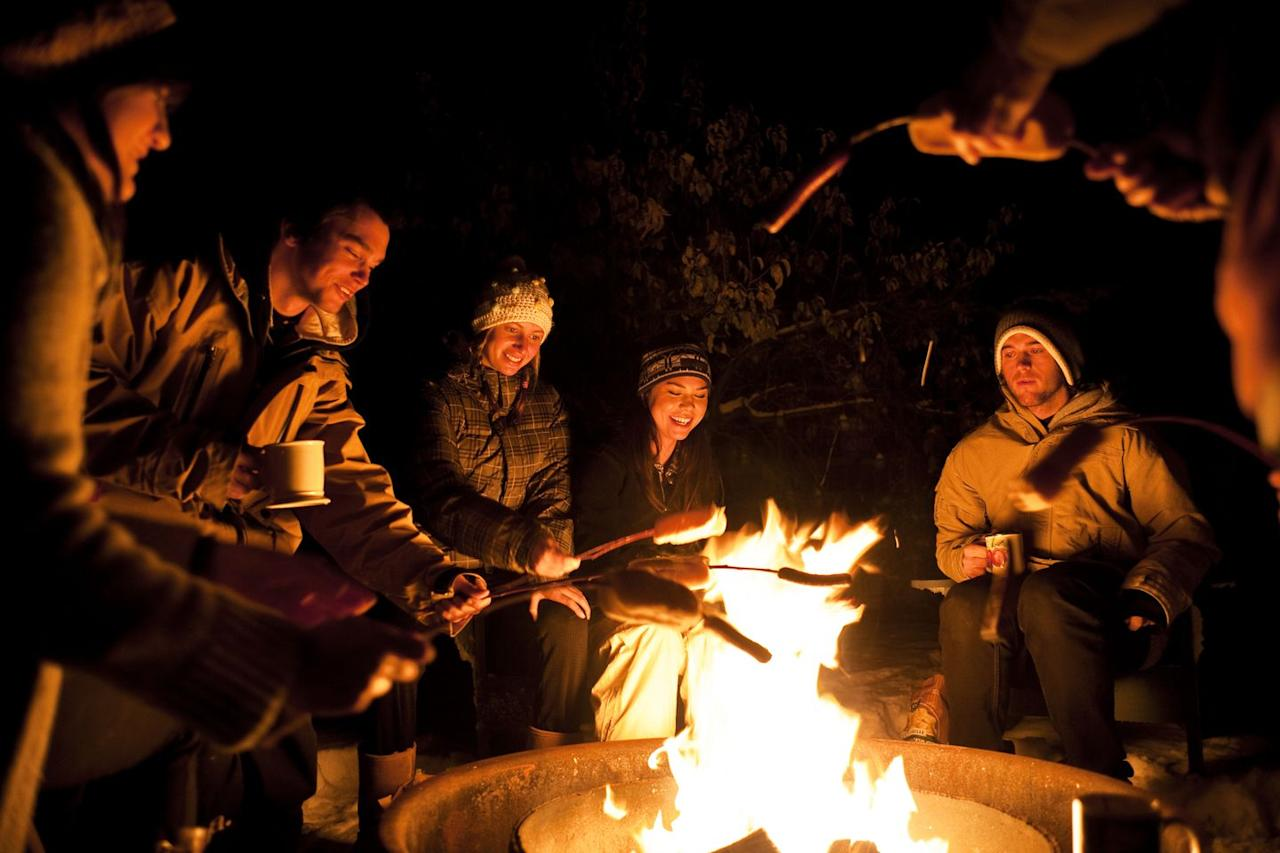 <p>Gather round the fire with your close friends and tell your scariest ghost stories (bonus points if you swear they're true.) Whether shrieks of delight or fear, a good time is sure to be had by all. </p>