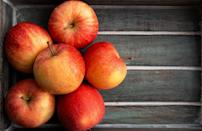 <p>Gala apples originated in New Zealand in the 1930s, and first made it to the U.S. in the 1980s. They're dense, creamy and mildly sweet with a nice floral aroma.</p>