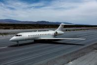 A Bombardier Global 6500 is seen in an undated artist's rendering