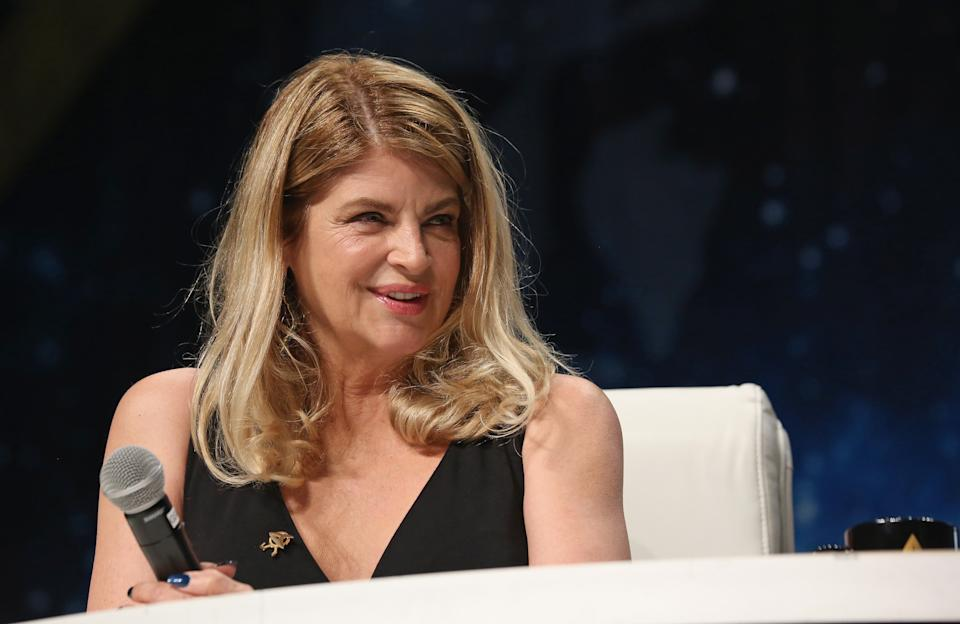 LAS VEGAS, NV - AUGUST 05:  Actress Kirstie Alley speaks during the 15th annual official Star Trek convention at the Rio Hotel & Casino on August 5, 2016 in Las Vegas, Nevada.  (Photo by Gabe Ginsberg/Getty Images)