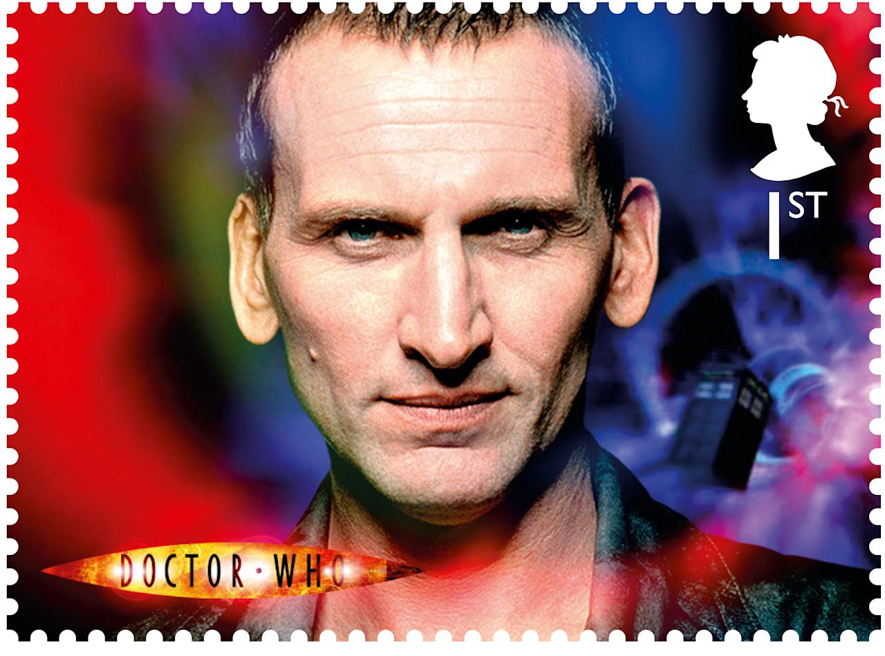 Christopher Eccleston was the first doctor of the rebooted 2005 series (Royal Mail)