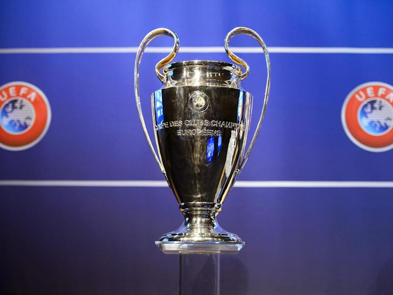 The Champions League trophy: EPA