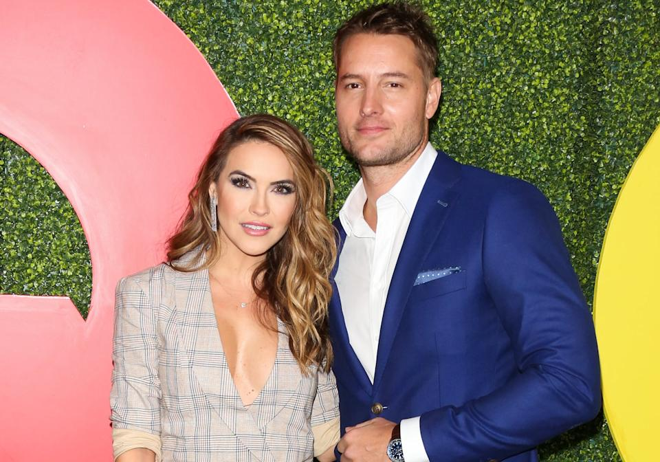 BEVERLY HILLS, CALIFORNIA - DECEMBER 06: Actors Chrishell Stause (L) and Justin Hartley (R) attend the 2018 GQ Men Of The Year party at Benedict Estate on December 06, 2018 in Beverly Hills, California. (Photo by Paul Archuleta/FilmMagic,)