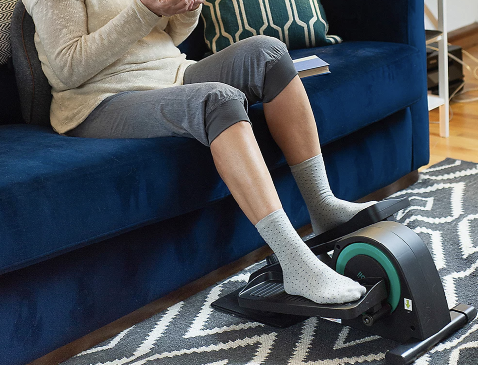 Break a sweat without getting up off the couch. (Photo: QVC)