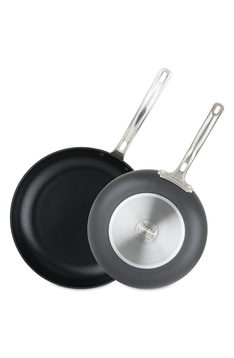 """<h2>Viking Hard Anodized Nonstick 10-Inch & 12-Inch Fry Pans 34% Off</h2> <br>""""I have only one (very heavy) frying pan that I just ruined, so now seems like the right time to reinvest in this some smaller more convenient set."""" <em>– Kate Spencer, Updates Market Editor</em><br><br>Shop <a href=""""https://www.nordstrom.com/brands/viking--21545"""" rel=""""nofollow noopener"""" target=""""_blank"""" data-ylk=""""slk:Viking"""" class=""""link rapid-noclick-resp""""><strong><em>Viking</em></strong></a> <br><br><strong>Viking</strong> Hard Anodized Nonstick 10-Inch & 12-Inch Fry Pans, $, available at <a href=""""https://go.skimresources.com/?id=30283X879131&url=https%3A%2F%2Fwww.nordstrom.com%2Fs%2Fviking-hard-anodized-nonstick-10-inch-12-inch-fry-pans%2F5663714"""" rel=""""nofollow noopener"""" target=""""_blank"""" data-ylk=""""slk:Nordstrom"""" class=""""link rapid-noclick-resp"""">Nordstrom</a>"""
