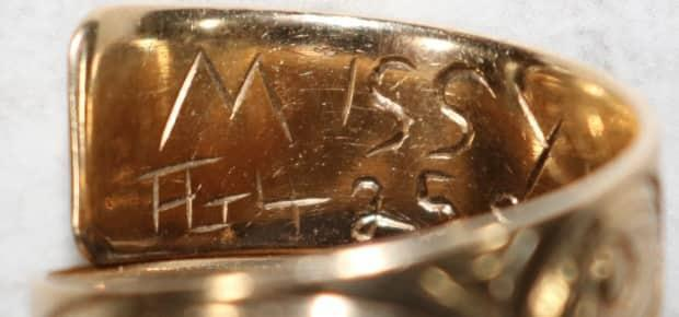 'Missy' is engraved in the ring.