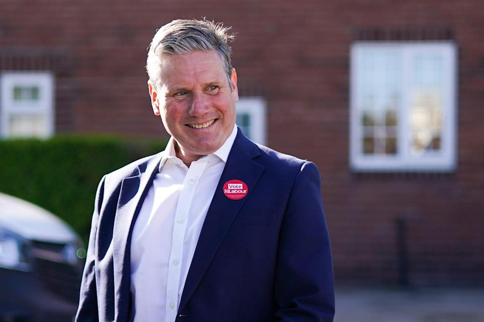 <p>Keir Starmer visiting St Mary's Community Centre in Pontefract, Wales, on Wednesday</p> (Getty Images)