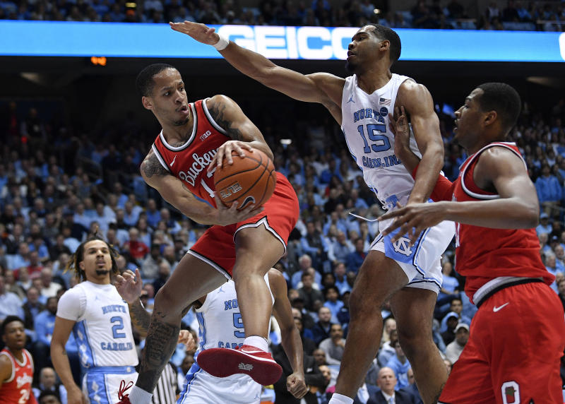 Ohio State stifled UNC to 27.4 percent shooting from the floor in a dominant road win over a top 10 team. (Grant Halverson/Getty Images)