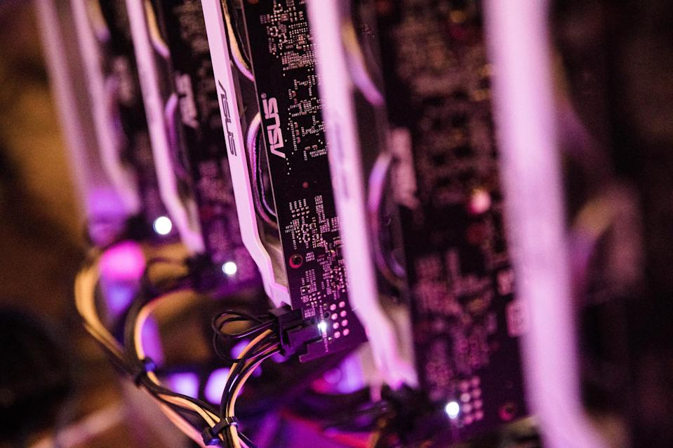 GPU processors used to mine Ethereum, the second-largest cryptocurrency (Bloomberg)