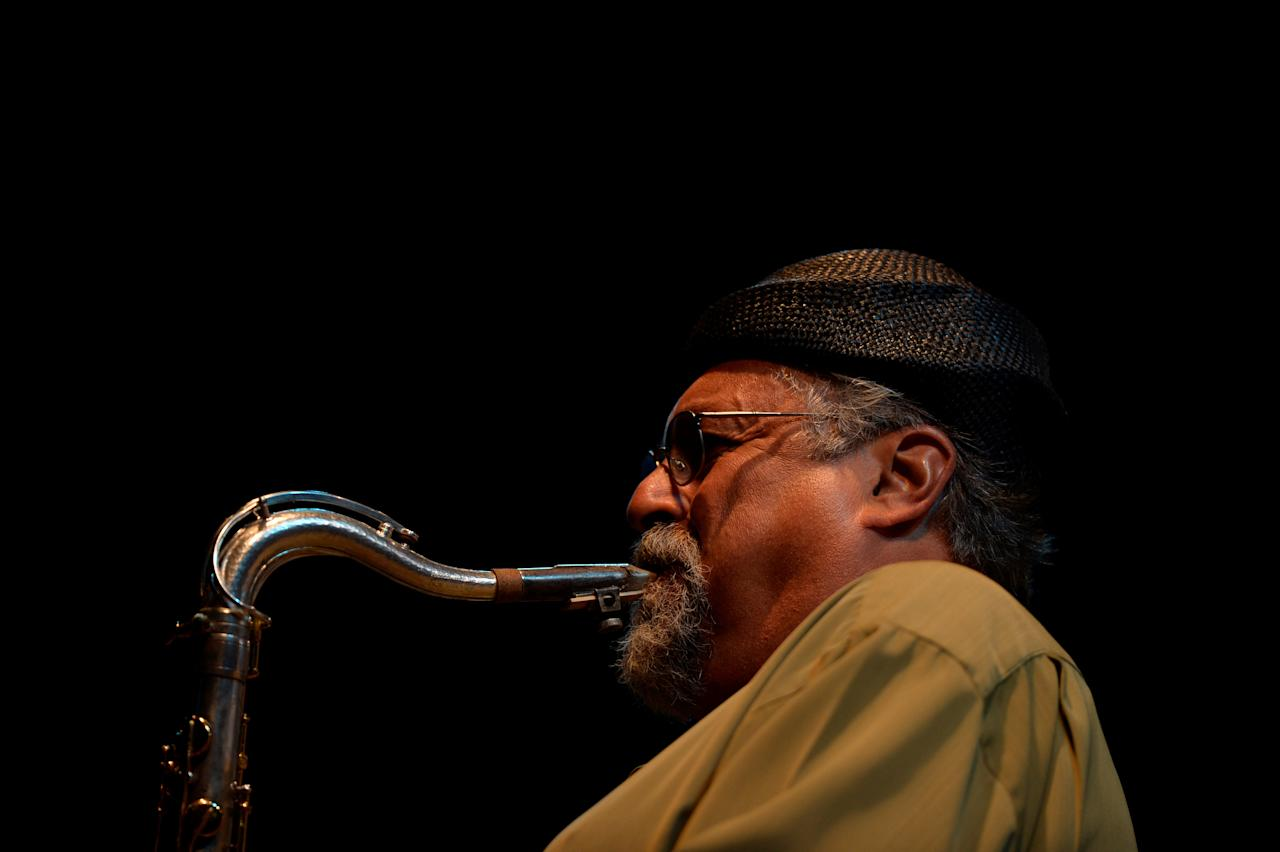 U.S. jazz saxophonist  Joe Lovano performs in the group Saxaphone Summit at the Jazzaldia Festival in San Sebastian, Spain, July 22, 2017. REUTERS/Vincent West