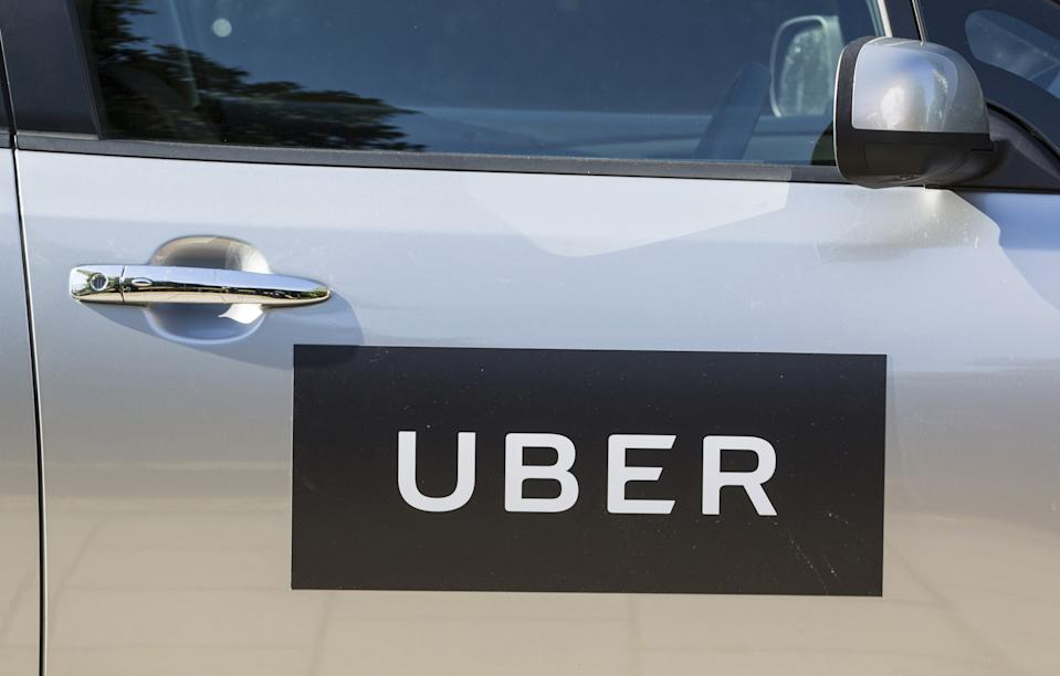 File photo dated 31/08/16 of the logo of Uber on a car door. A judge is due to decide on Monday whether Uber is successful in its bid to regain its licence to operate in London.